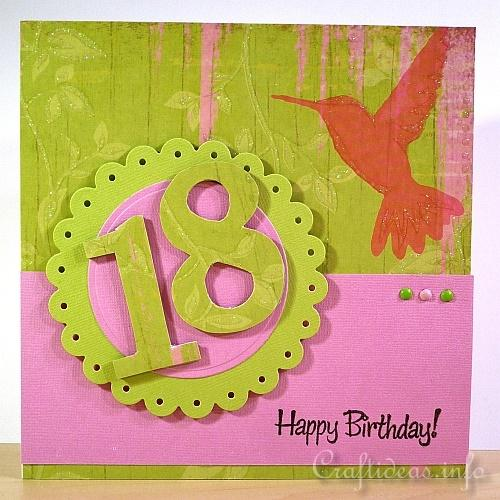 Craft Ideas for Birthday Cards 18th Birthday Card – 18th Birthday Card Ideas