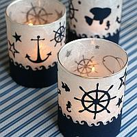 Maritime Tea Light Glasses