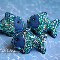Sequin and Felt Fish