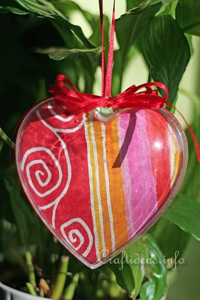 Acrylic Hanging Heart Ornaments 1