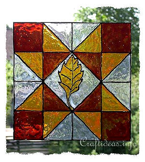 Basic Craft for Fall - Ohio Star Patchwork Block Window Cling