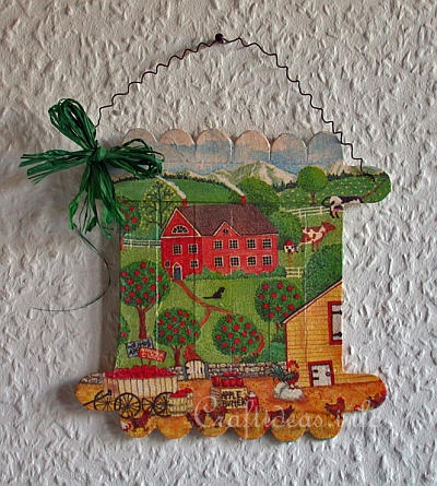 Free Crafts for Spring - Decoupage Craft Stick Picture Project