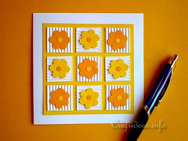 Birthday Card - Greeting Card - Cheery Patchwork Flowers Card 2
