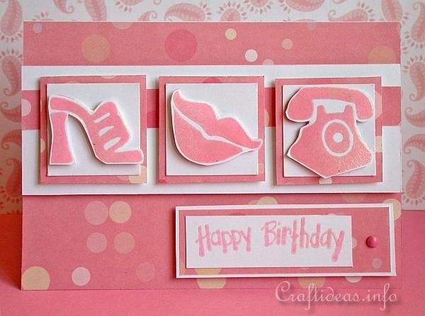 Happy Birthday Card Craft Ideas