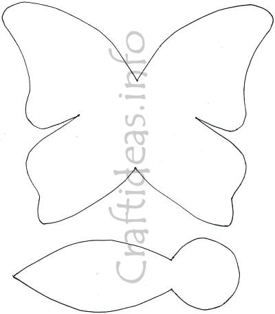 Butterfly Paper Craft Template For A