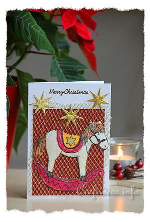 Christmas Card - Rocking Horse Greeting Card for the Holidays