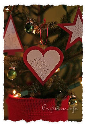Christmas Craft - Red Paper Ornaments