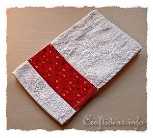 christmas craft sew a designer hand towel - Decorative Hand Towels