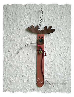 Christmas Craft Idea for Kids - Paint Stick or Craft Stick Reindeer