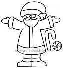Free Christmas and Winter Craft Patterns, Templates and Coloring Book Pages 3