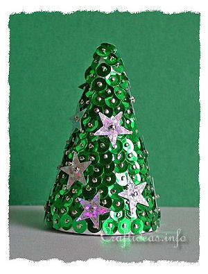 Christmas Craft for Kids - Christmas Tree with Sequins