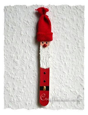 Christmas Craft for Kids - Craft Stick Crafts - Santa Claus Ornament