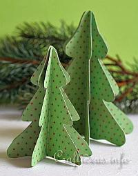 Christmas Paper Craft - 3-D Paper Christmas Tree Decoration