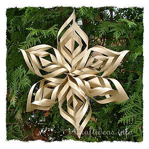 Christmas Paper Craft - Christmas Star Window Decoration 300