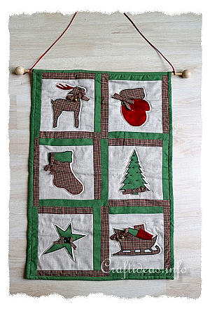 Free Patchwork and Quilting Craft - Christmas Wall Hanging : christmas quilt wall hanging - Adamdwight.com