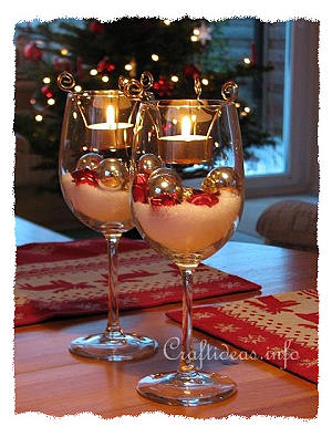 Christmas Table Decoration -Tealight Candle Glasses