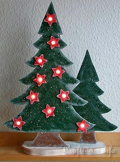 christmas wood craft wooden lighted christmas trees - Wooden Christmas Tree