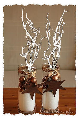 Christmas and Winter Decoration in Brown and White