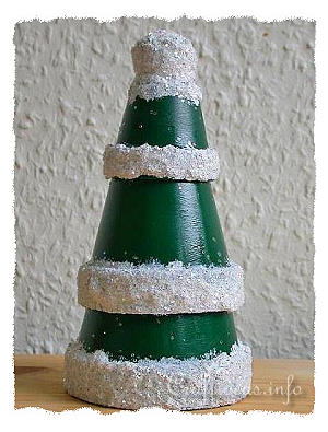 Clay Pot Christmas Tree Craft