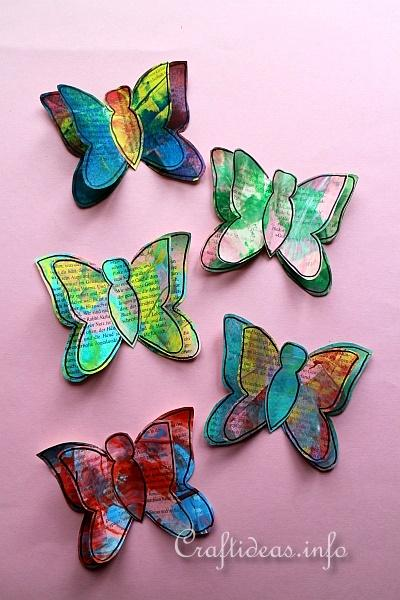 Colorful Paper Butterflies