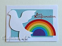 Confirmation Card to Craft with Dove and Rainbow