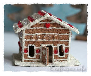 Cork Gingerbread House