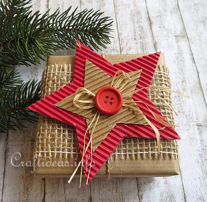 Corrugated Cardboard Christmas Star