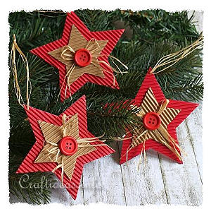 Corrugated Cardboard Christmas Star Ornament