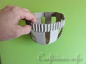 Corrugated Paper Easter Basket Tutorial 6