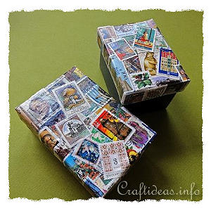 Crafting with Postage Stamps - Decoupage Box