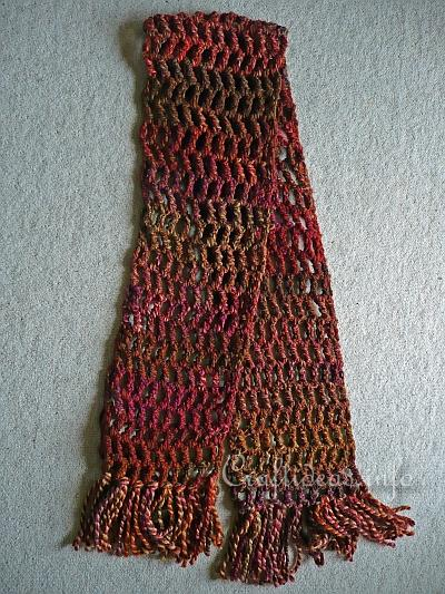 Crochet Scarf Pattern Easy Quick : Winter Craft Project - How to Crochet a Quick and Easy ...