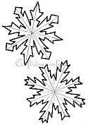 Dimensional Snowflakes Pattern