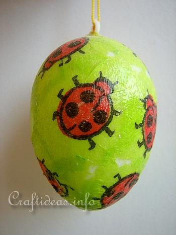 Easter Craft for Kids - Decoupage Easter Egg Using Paper Napkins 3