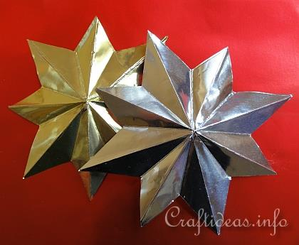 ... Christmas Crafts - Eight-Pointed Metallic 3-D Christmas Star