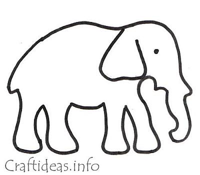 Coloring patterns for kids free patterns for Elephant template for preschool