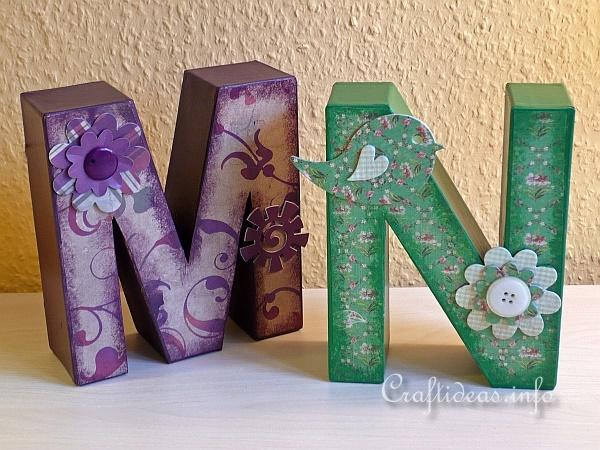 Embellished Paper Mache Letters