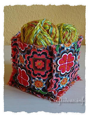 Fabric Box Using Rag Quilting Technique