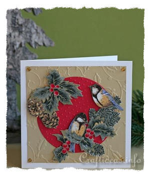 Fabric Christmas Card Winter Welcome