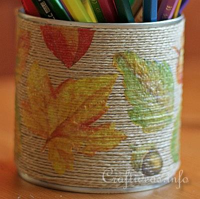 Fall Pencil Holder Detail