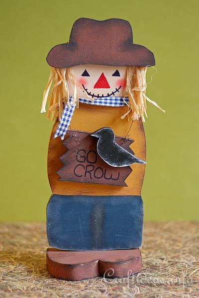 Fall Wood Craft - Scarecrow Decoration
