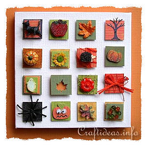 Fall and Halloween Inchies on Canvas