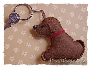 Felt Dog Key Ring