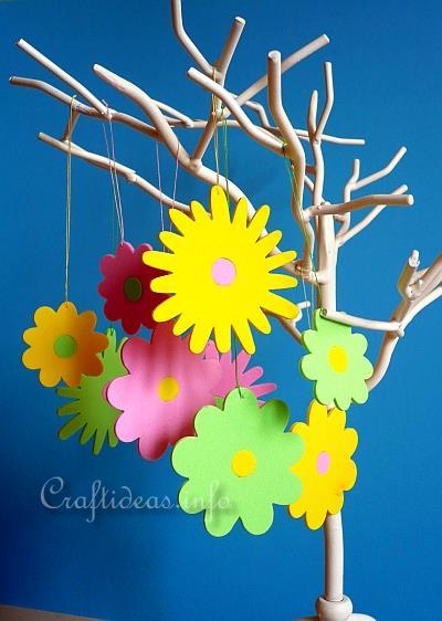Craft Idea For Spring Die Cut Fun Foam Flowers