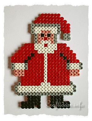 christmas craft for kids fuse bead santa claus. Black Bedroom Furniture Sets. Home Design Ideas