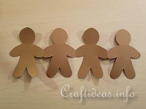 Gingerbread Man Paper Garland - Detail 5