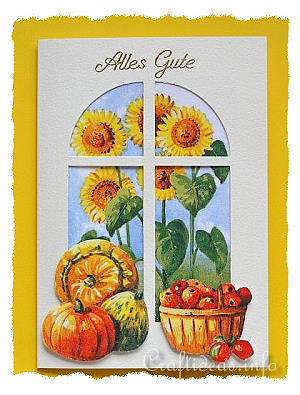 Greeting Card with Fall Motifs