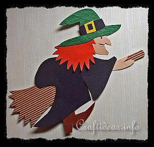 Halloween Paper Craft - Paper Witch Decoration
