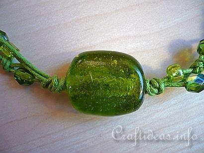 Jewelry Craft - Green Beaded Necklace 3