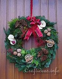 Natural Door Wreath for the Holidays