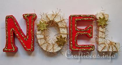 Christmas wood craft wooden noel letters decoration for Decorations exterieures de noel